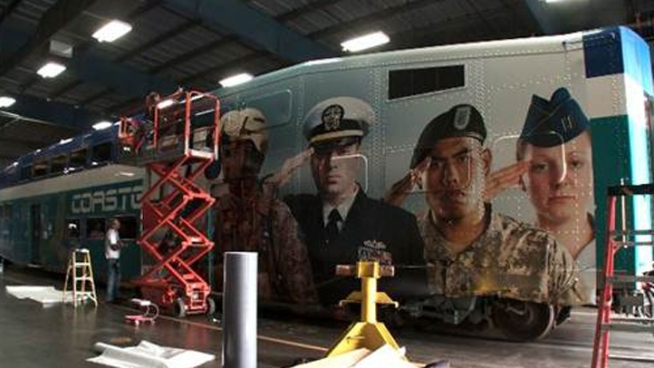 COASTER Train Debuts Mobile Military Tribute