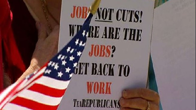Images: Protestors Demand Jobs, Not Cuts