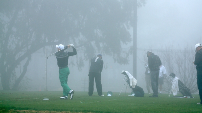 Dense fog delayed the Farmers Insurance Open at Torrey Pines Saturday for the first time in years. Several delays later, the PGA Tour called it a day. NBC 7's Lea Sutton reports.