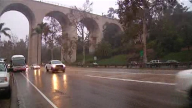 On and off rain hit San Diego, causing slick roadways and a slow, frustrating commute for many. NBC 7's Tony Shin speaks with local Mike Stasko about how the damp weather dampened his day.
