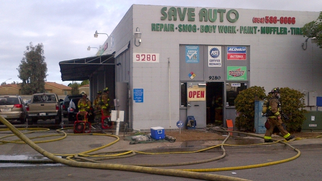 Fire Sparks At Auto Shop NBC 7 San Diego