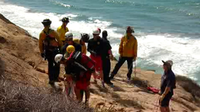 Tourist Gets Stuck on Torrey Pines Cliff