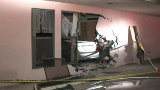 Car Slams into Spring Valley Church