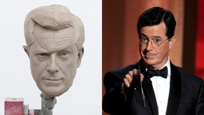 Stephen Colbert visited DC on Friday to see his wax alter ego at Madame Tussauds museum. News4's Tom Sherwood caught up with the Comedy Channel political humorist who now sits among presidents in Washington.