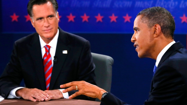 President Barack Obama sharply challenged former Gov. Mitt Romney on foreign policy in their final campaign debate Monday night, saying,