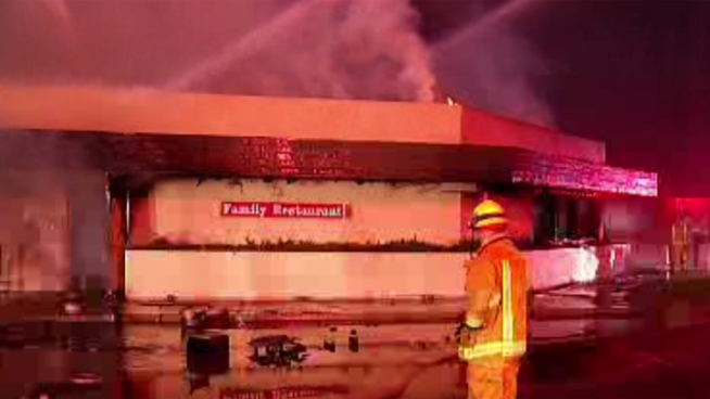 Spires Family Restaurant in Escondido was heavily damaged on Sunday, Sept. 30 when it caught fire.