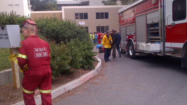 Fire Crews Called to UCSD for Hazmat Incident