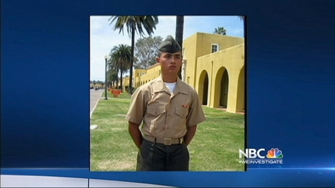 Police in Palm Springs said they shot and killed 22-year-old U.S. Marine Cpl. Allan Devillena early Saturday morning. Jean Elle reports