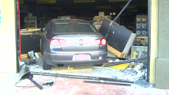 Car Crashes into Pet Store