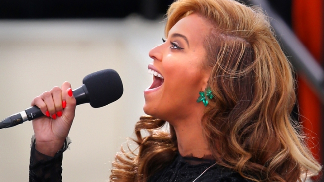Pop star Beyonce performs the National Anthem at President Barack Obama's second inauguration. After the performance, there have been questions about <a href=