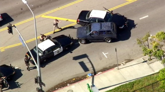 Pursuit Ends in West LA as CHP Performs PIT Maneuver
