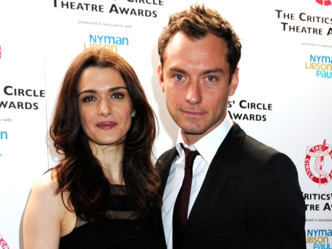 Jude Law & Rachel Weisz Among Contenders For Britain's Laurence Olivier Theater Awards