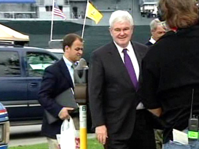 Gingrich Brings Tea Party Express to San Diego