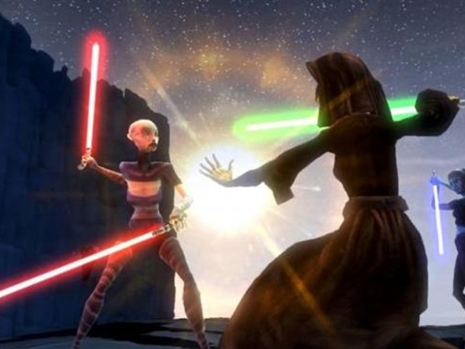 The latest Star Wars video game bridges the gap between series one and two of the animated Clone Wars TV series.