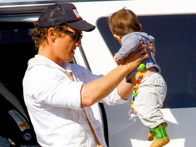 Matthew McConaughey's Kid Eats Like Kobayashi