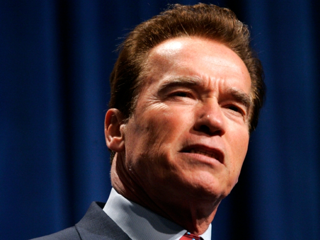Arnold Schwarzenegger Tees Off on Tea Party