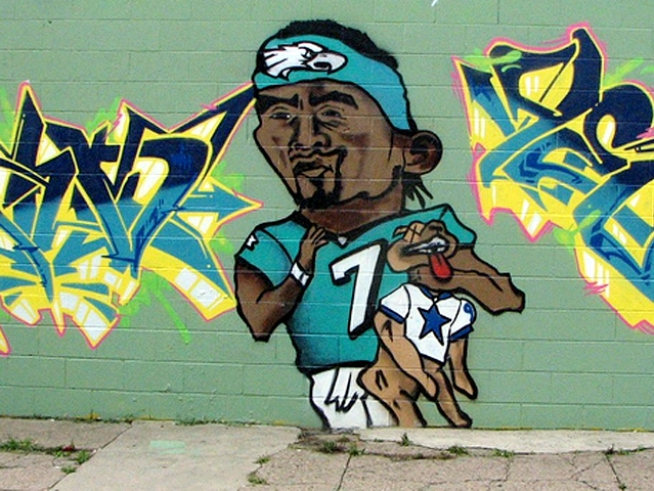 City Removes Vick-Choking-Puppy Mural From Philly Store