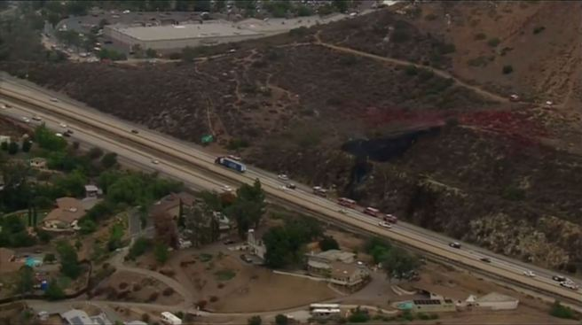 Sig Alert Issued In Lakeside As Brush Fire Burns Off I 8 Nbc 7 San