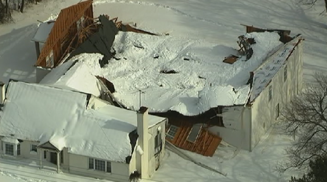 Roof of Maryland Church Collapses After Heavy Snowfall