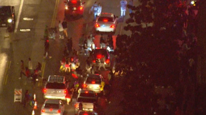 Three Shot Amid Hollywood Halloween Celebration