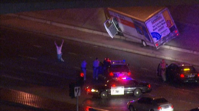 U-Haul Driver Surrenders After Leading Police on Chase Through Two SoCal Counties