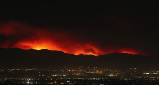 Time Lapse: Sand Fire Explodes
