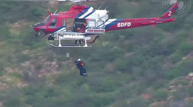 Helicopter Rescues Woman Who Injured Foot While Hiking in Rancho Penasquitos