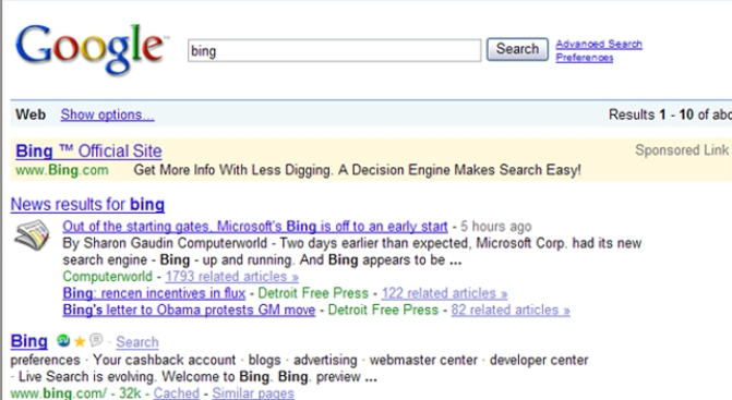 Google Making Money From Microsoft's Bing