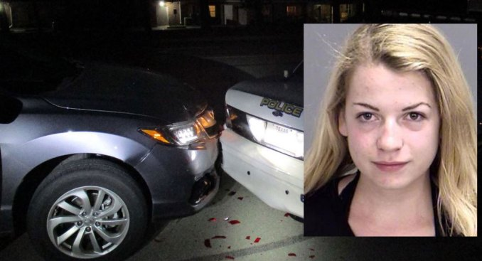 Woman Rams Squad Car While Taking Topless Selfie: Cops