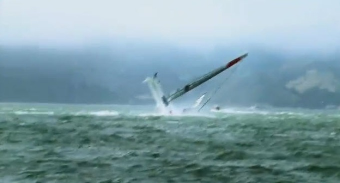 China Team Capsizes in America's Cup