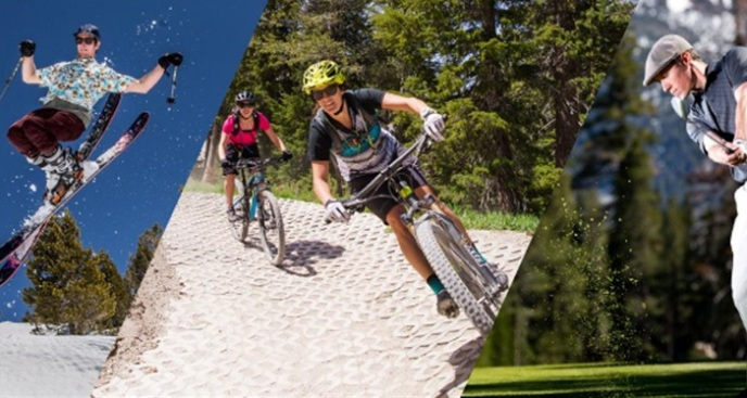 Mountain Trio: Ski/Bike/Golf Challenge