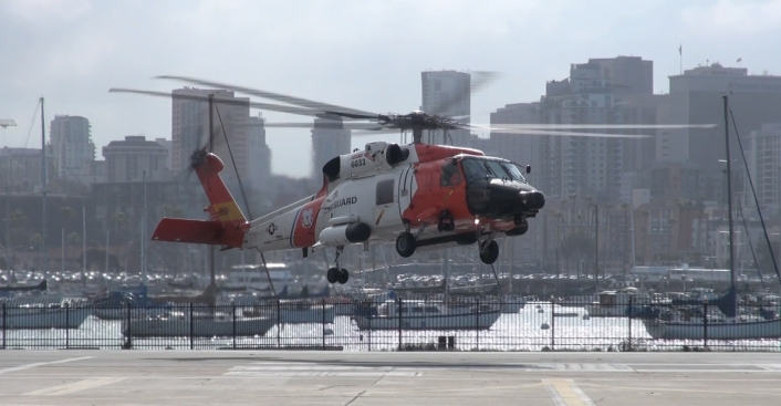 Local Coast Guard Crew Rescues Woman from Cruise Ship
