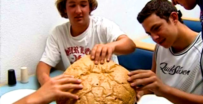 High School Swimmers Eat a Big Burger