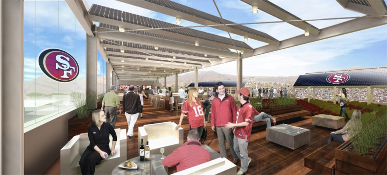 A Look in the 49ers New Stadium