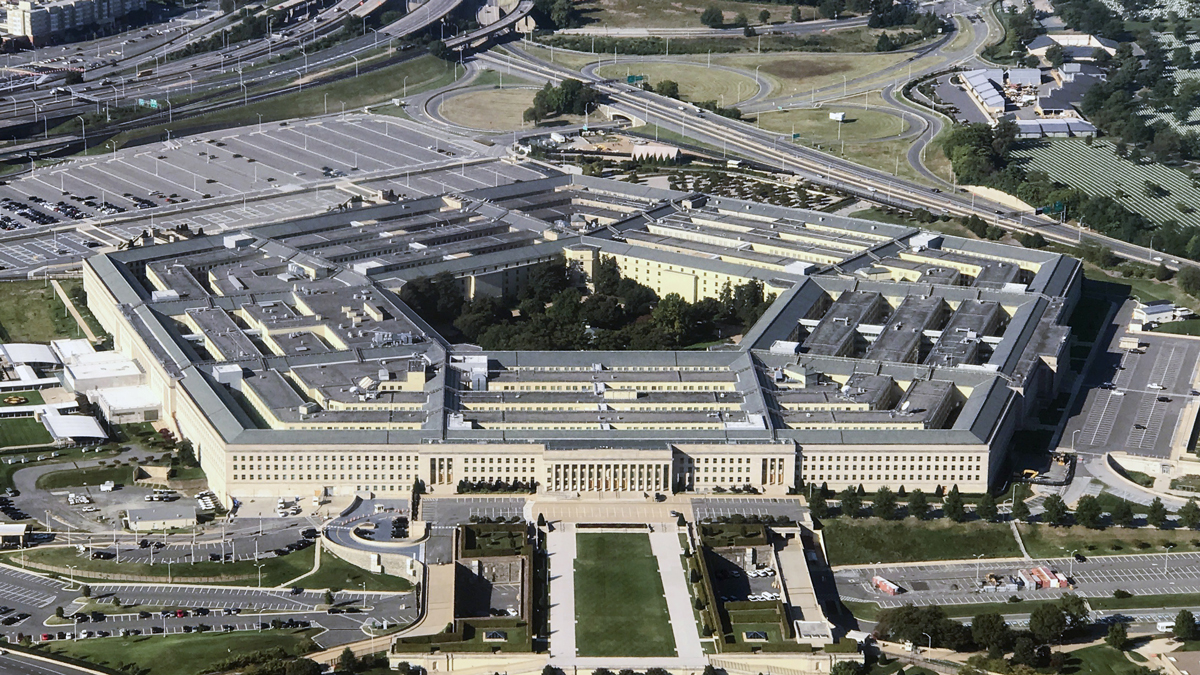 This Sept. 24, 2017, file photo shows an aerial view of the Pentagon.