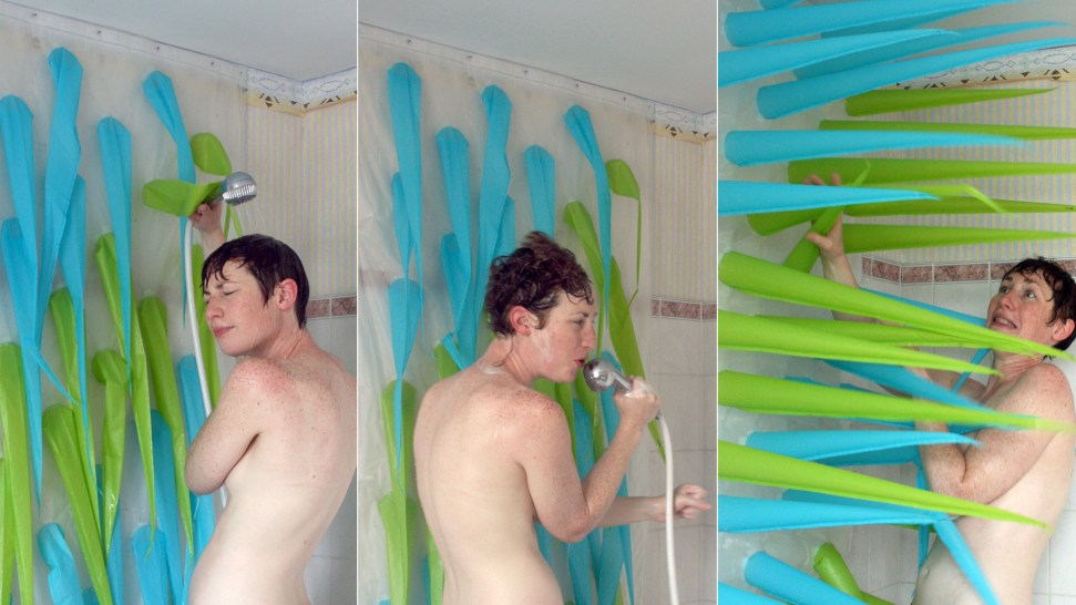 Inflatable Shower Curtain Inspired By Medieval Torture Devices Lets Bathers Know When It's Time to Get Out