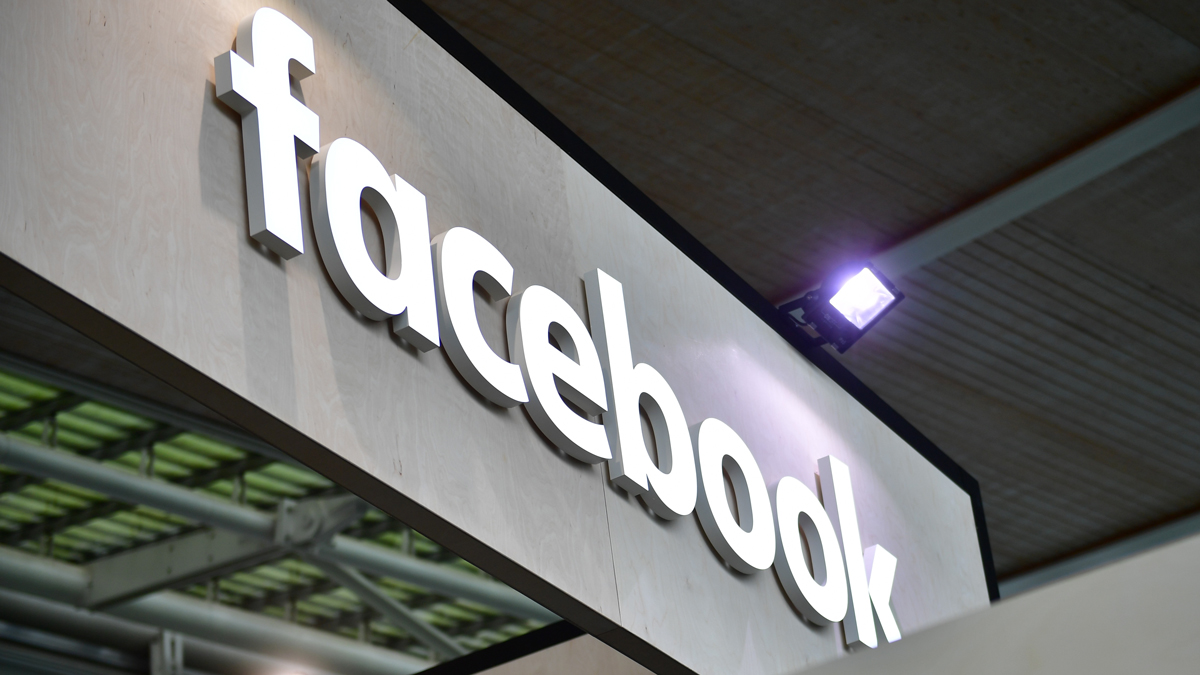 This June 12, 2018, file photo shows the Facebook logo on display at the 2018 CeBIT technology trade fair in Hanover, Germany.