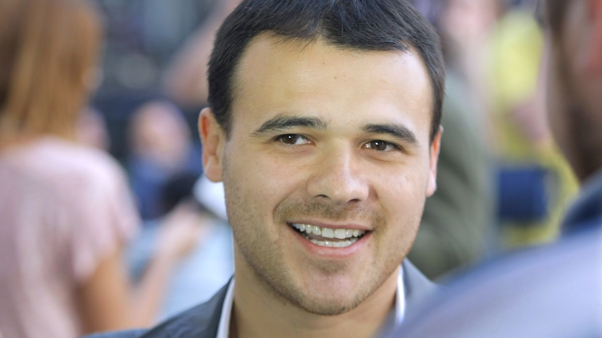 In this Thursday, June 2, 2011 photo, Emin Agalarov, son of Araz Agalarov, an ethnic Azerbaijani business leader living in Moscow, seen during a party in Moscow, Russia.