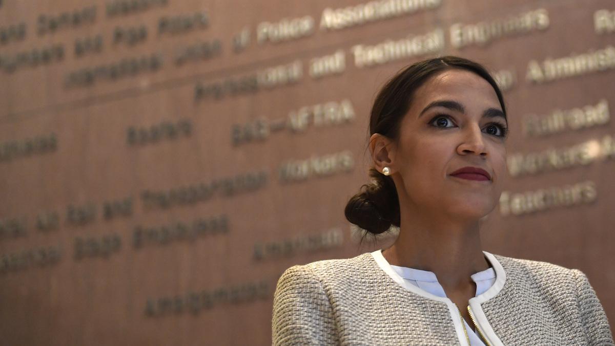 This Nov. 12, 2018, photo shows Rep.-elect Alexandria Ocasio-Cortez, D-N.Y., in Washington.