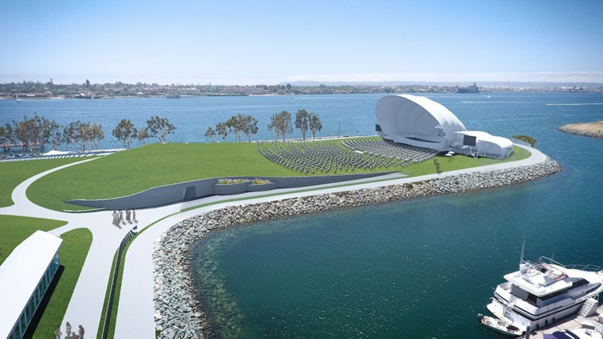 A rendering of the San Diego Symphony's proposed Bayside Performance Park.