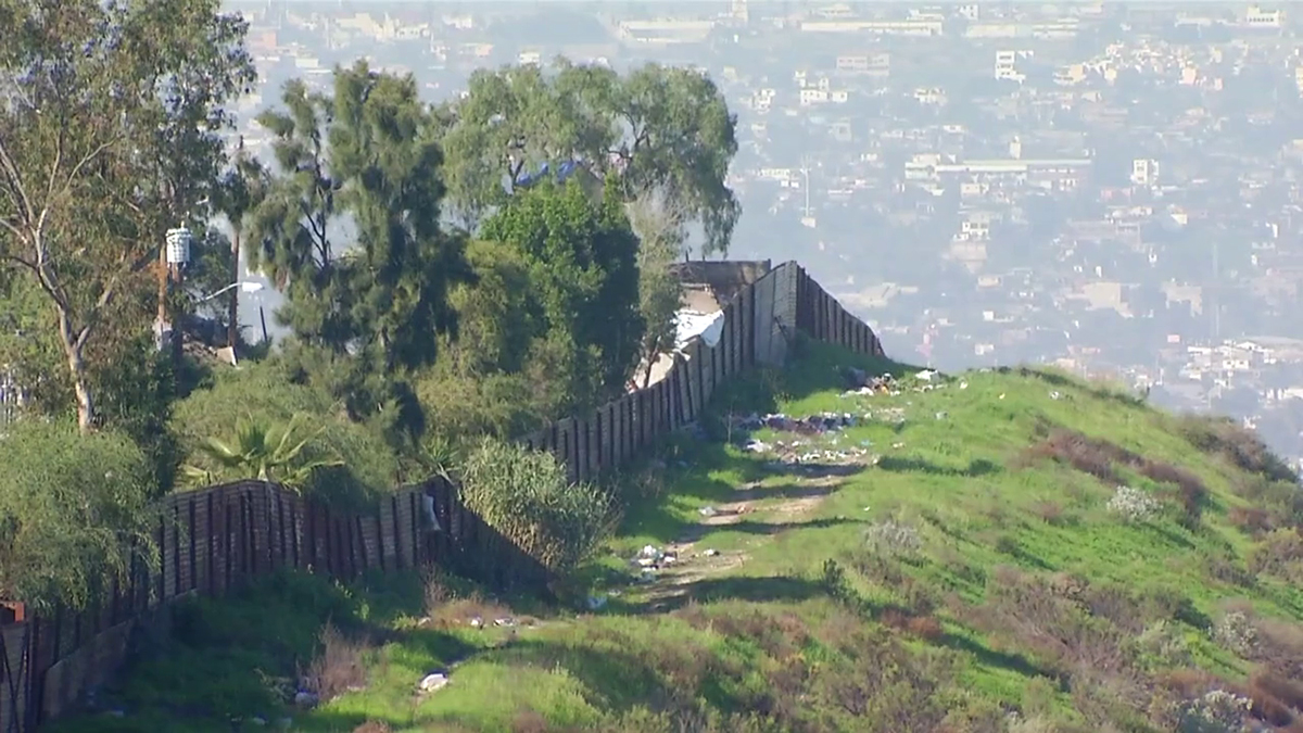 An image of the U.S.-Mexico border captured by NBC 7 in February 2017.