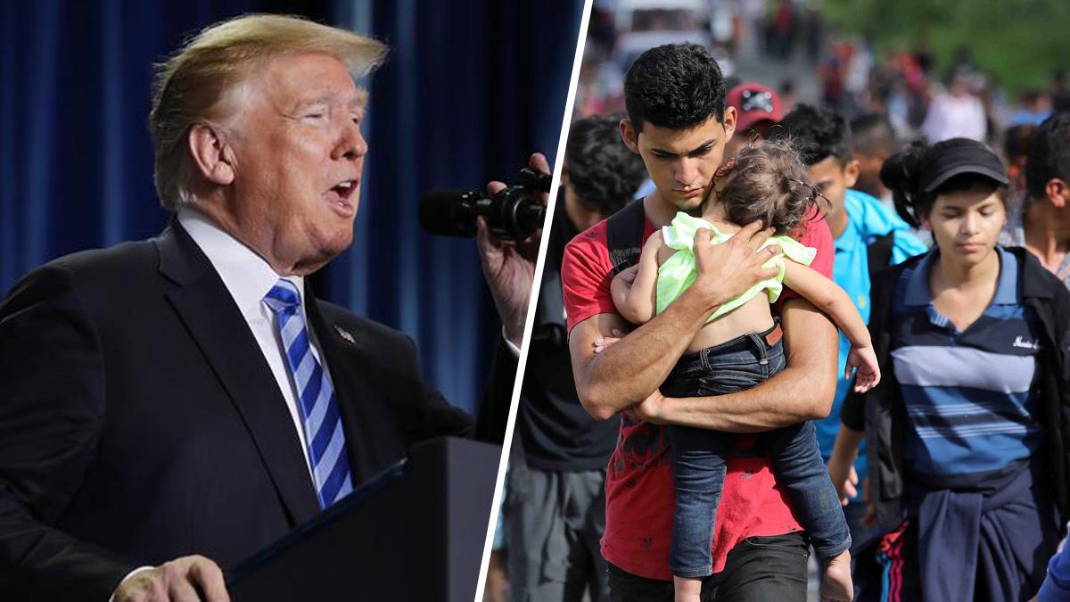 Donald Trump tiene un mensaje para los inmigrantes que forman parte de la caravana.