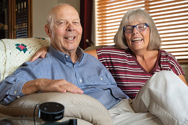 Dan Deninger and his wife, Cindy of Oceanside. They've embraced technology to help stay in their home as they age.