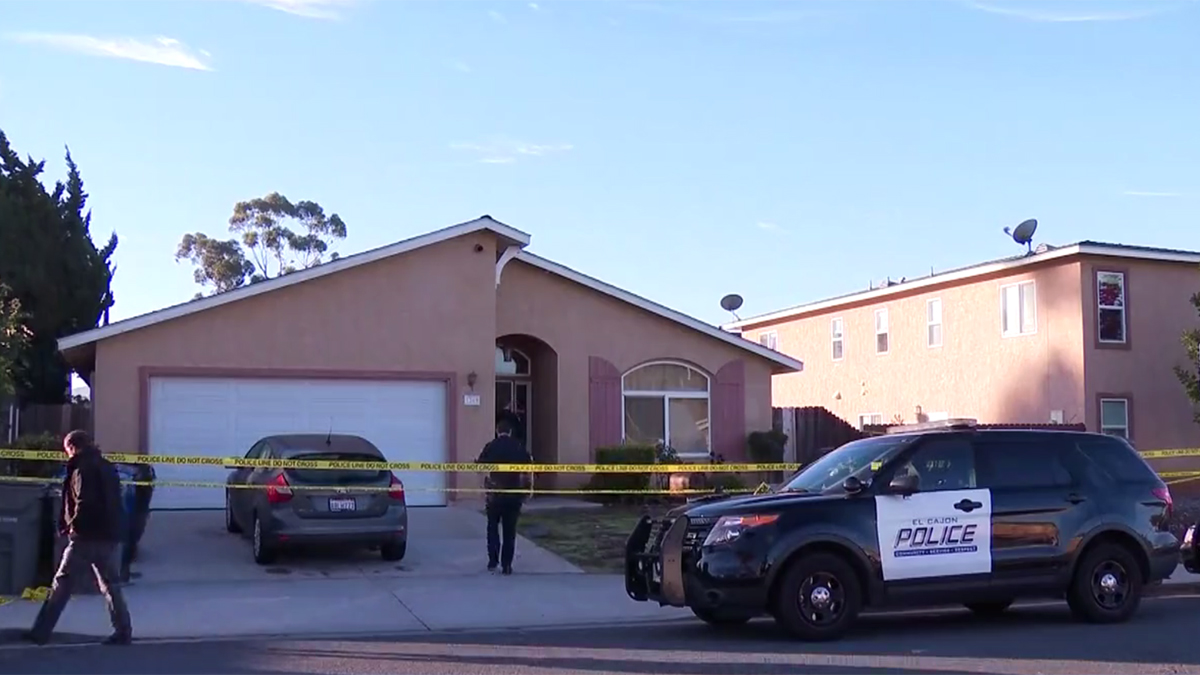 The scene of the assault at the home in El Cajon on Dec. 20, 2018.