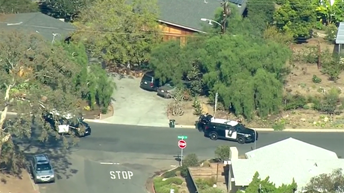 NBC 7 News Chopper captured this aerial view of the police activity in the La Jolla neighborhood.