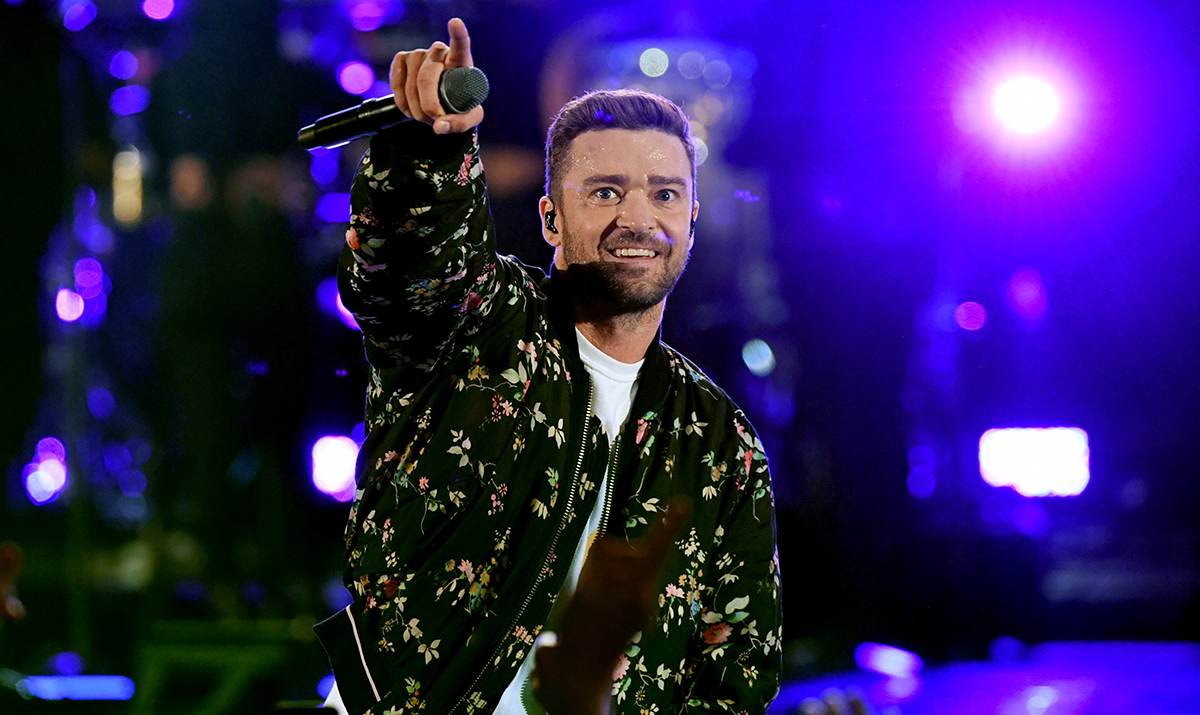 Justin Timberlake (shown here performing at the 2018 iHeartRadio Music Festival) headlines San Diego on Feb. 21, 2019.
