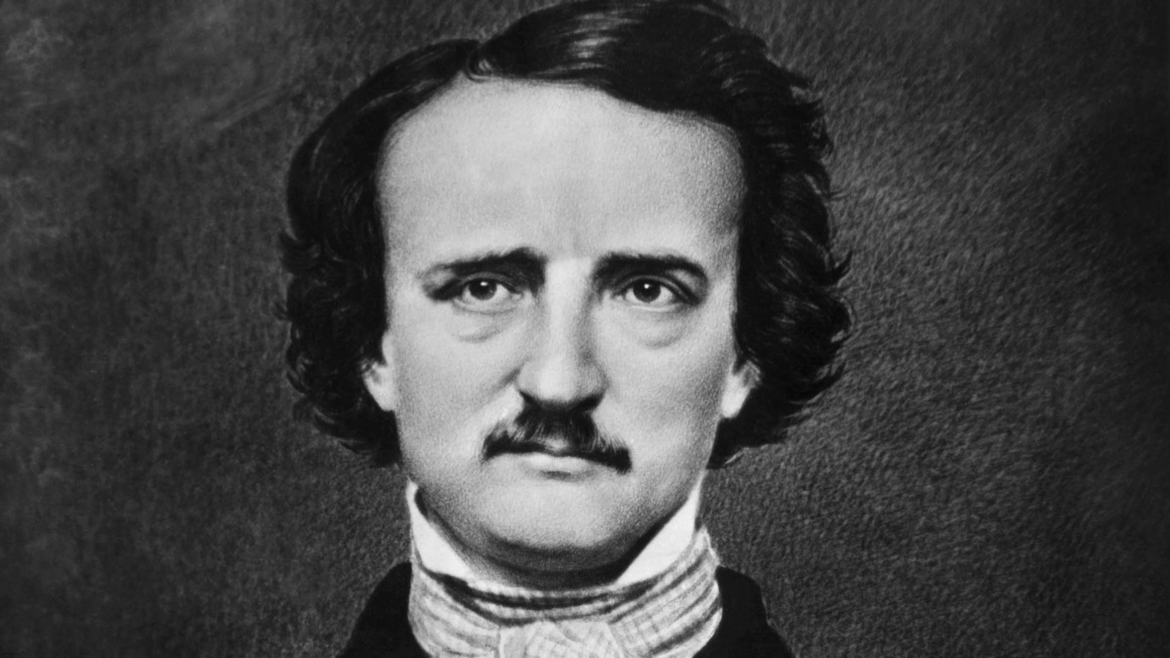 Portrait of American author Edgar Allan Poe (1809-1849). Undated illustration, after a photo by Matthew Brady.