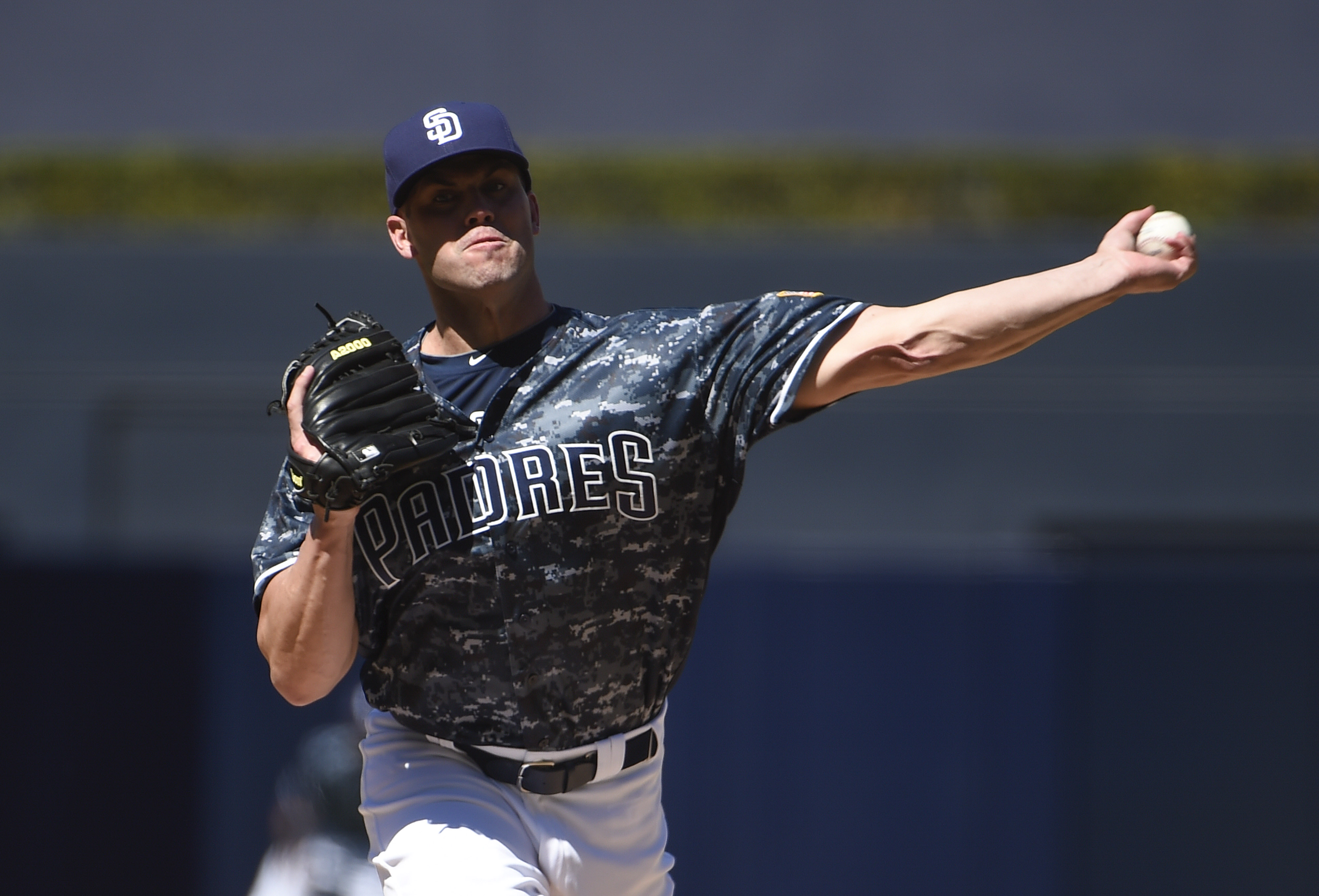 Clayton Richard of the San Diego Padres (Photo by Denis Poroy/Getty Images)