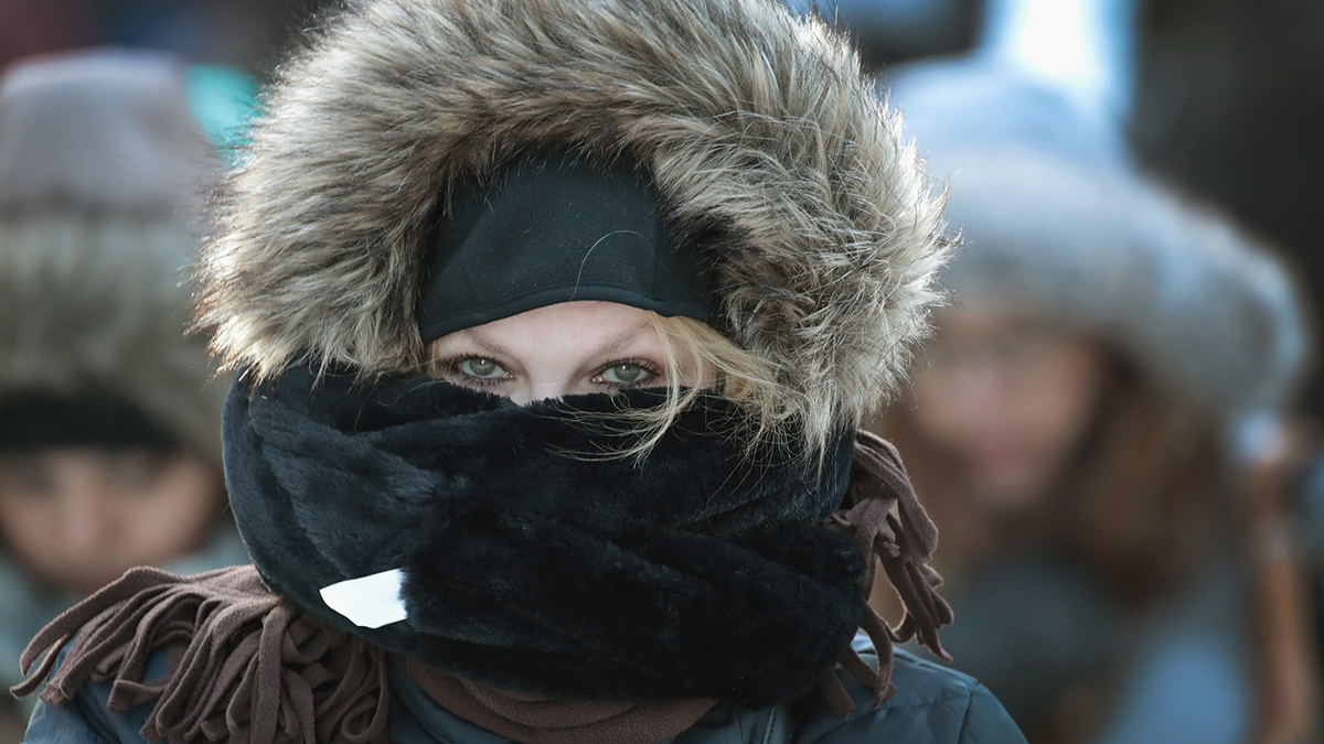 This Jan. 2, 2018, file photo shows a person walking in Chicago, Illinois