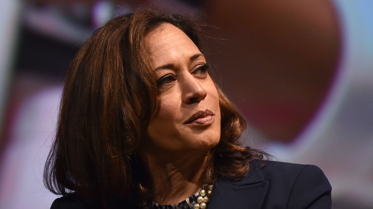 Sen. Kamala Harris attends the United State of Women Summit at the Shrine Auditorium in Los Angeles, on May 5, 2018.